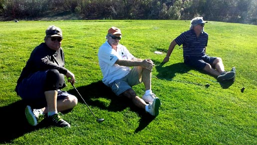three wise men waiting on a par three