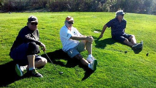 three wise men waiting on a par three
