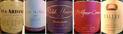 5 wines singleWEB wine grapes viognier tempranillo santa rita hills rioja alta pinot noir loire valley grenache gamay 