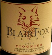BlairFoxParadiseViognier09W wine grapes viognier tempranillo santa rita hills rioja alta pinot noir loire valley grenache gamay 