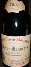 CG Corton Renardes 2001WEB wine grapes pinot noir burgundy