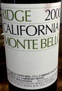 Ridge Montebello 00WEB wine grapes viura spain merlot gamay cabernet sauvignon cabernet franc beaujolais alta rioja