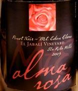 alma rosa jabali 09WEB wine grapes syrah spain santa rita hills santa barbara county rousanne pinot noir mourvedre marsanne grenache blanc grenache alta rioja
